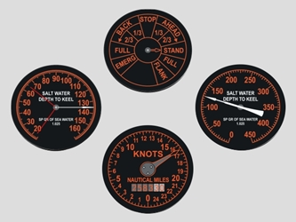 Fleet Boat Gauge Coasters